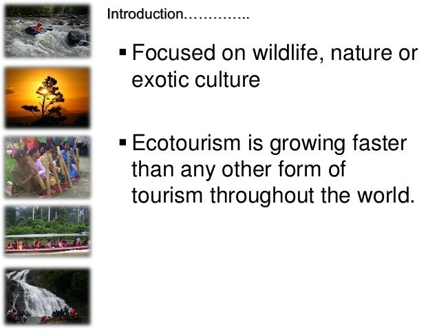 """""""Ecotourism is a purposeful travel to natural areas to understand the culture and natural history of the enviroment, takin..."""