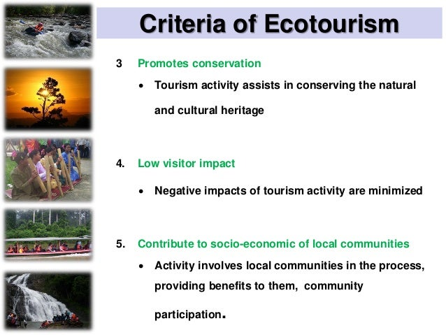 DIFFERENCE BETWEEN ECOTOURISM AND NATURE- BASED TOURISM