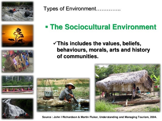 Types of Environment…………..  The Sociocultural Environment This includes the values, beliefs, behaviours, morals, arts an...