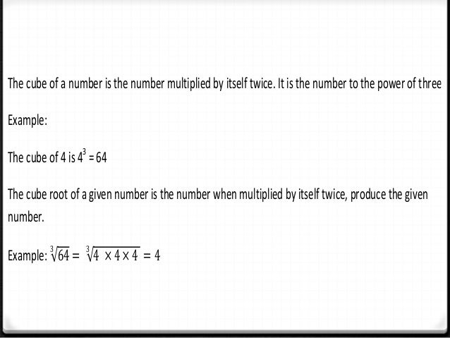 Chapter 2 Squares, Square roots, Cubes and Cube roots