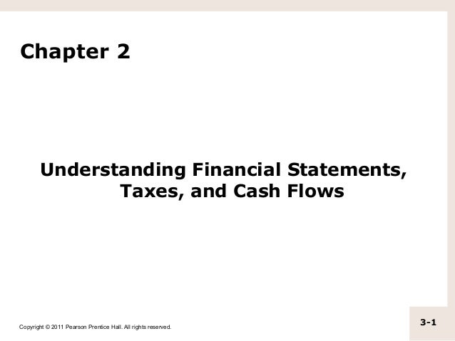 Chapter 2        Understanding Financial Statements,               Taxes, and Cash FlowsCopyright © 2011 Pearson Prentice ...