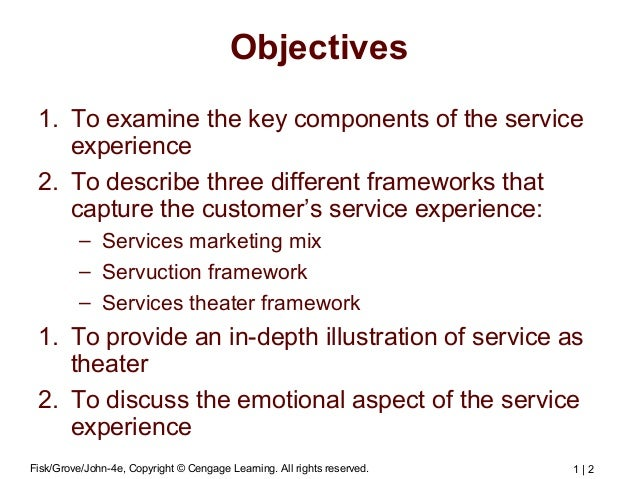 Services Marketing Chapter 2 Frameworks for Managing the Customer's E…