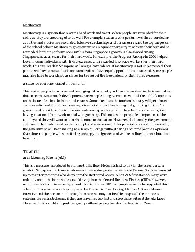 Good governance essay social studies