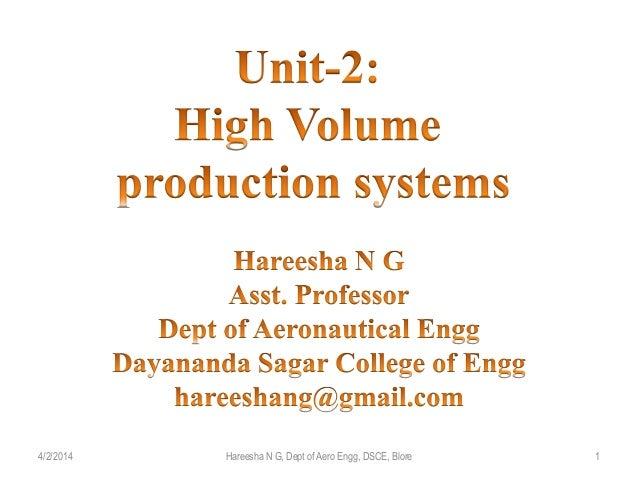 4/2/2014 1Hareesha N G, Dept of Aero Engg, DSCE, Blore