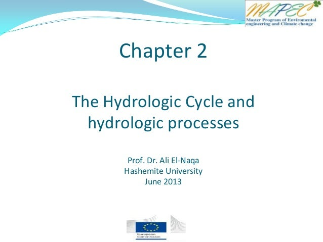 Chapter 2 The Hydrologic Cycle and hydrologic processes Prof. Dr. Ali El-Naqa Hashemite University June 2013