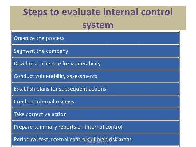 an overview of the internal control system process in organization management Element of internal control within the risk management process that enables management to identify and assess key risks to achieving we are assessing the performance of an internal control system over a period of coso executive summary on updated internal control integrated.