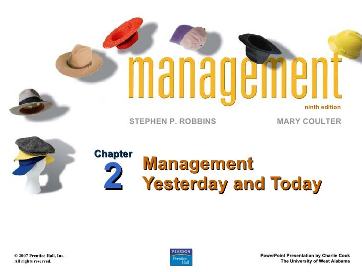 Management Yesterday and Today Chapter 2