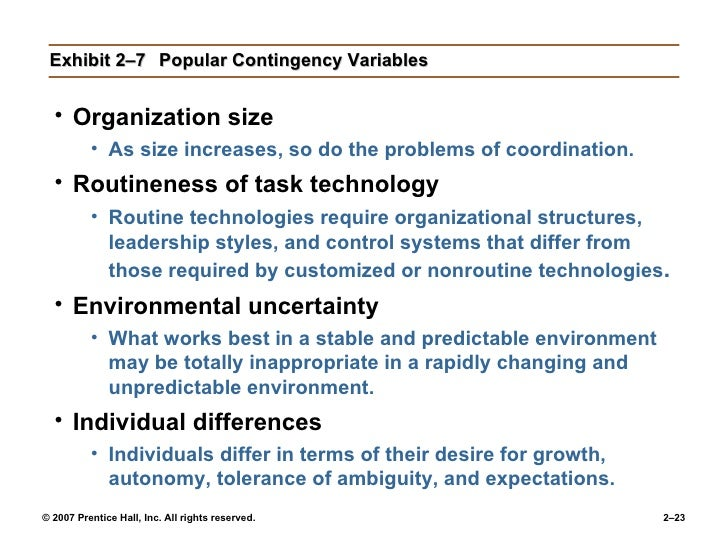 routineness of task technology Knowledge as a contingency variable: do the characteristics of knowledge predict organization structure and firm technology our.