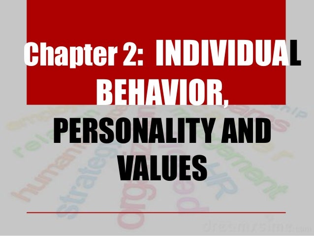 Chapter 2: INDIVIDUAL BEHAVIOR, PERSONALITY AND VALUES