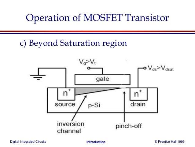 mosfet transistor b saturation region 16
