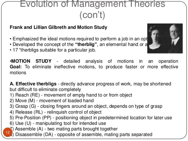 frank and lillian gilbreth theory