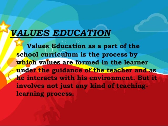 the values of an education How to know the importance of education getting an education is important, as most career paths require at least some education and training though the decision to continue your education is a personal choice, it's worth considering if.