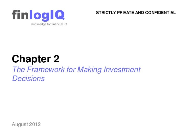 finlogIQ       Knowledge for financial IQ                                    STRICTLY PRIVATE AND CONFIDENTIALChapter 2The...