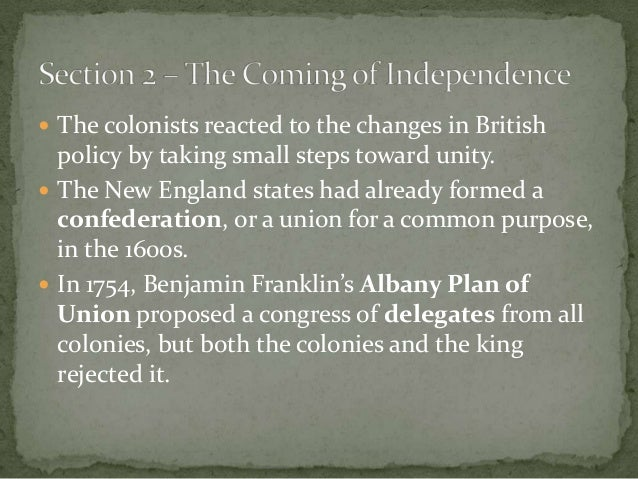 who rejected the albany plan of union