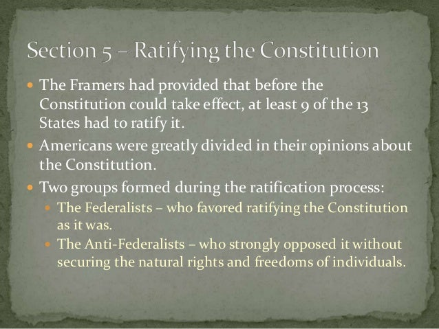 the framers federalists and anti federalists essay A summary of the federalist papers and the bill of rights: study questions & essay topics on the other side were the anti-federalists.