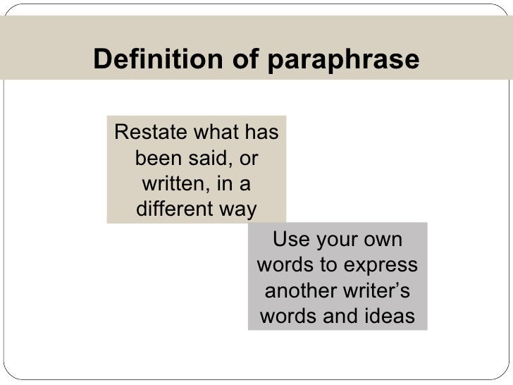the meaning of paraphrase