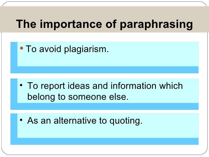 Academic writing paraphrasing exercises owl