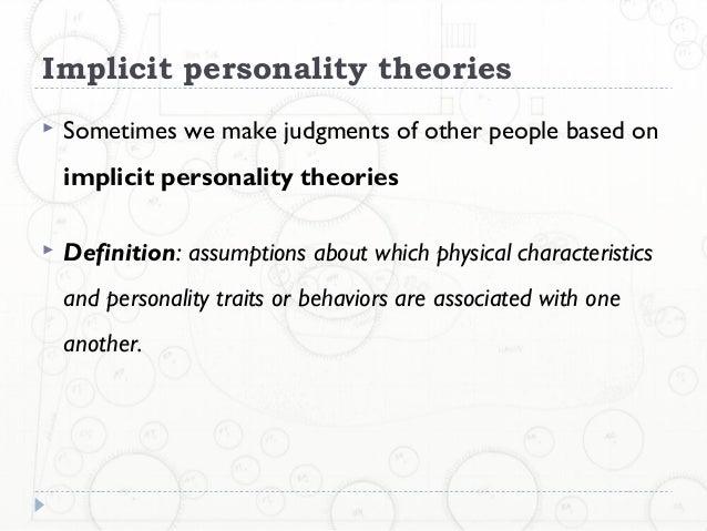 implicit character basic principle definition