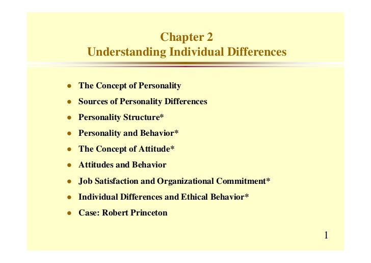 Chapter 2  Understanding Individual DifferencesThe Concept of PersonalitySources of Personality DifferencesPersonality Str...