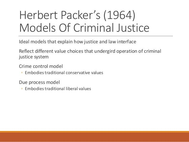 Which Model Crime Control or Due Process