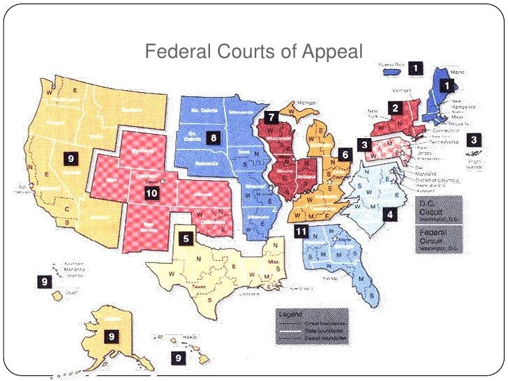 Us court of appeals circuit map
