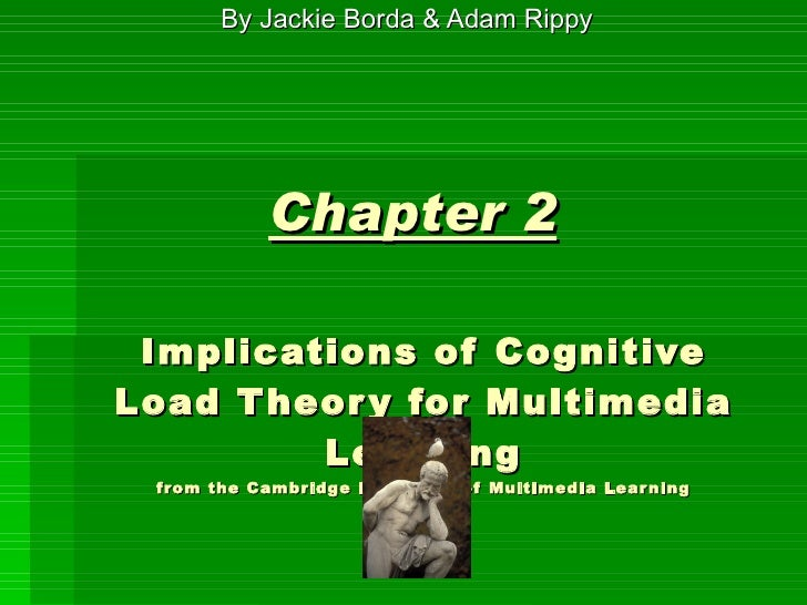 Chapter 2   Implications of Cognitive Load Theory for Multimedia Learning from the Cambridge Handbook of Multimedia Learni...