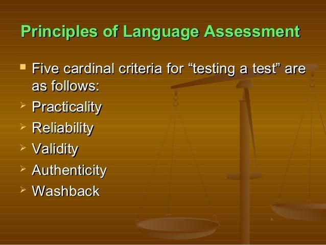 Chapter 2(principles of language assessment) Slide 2