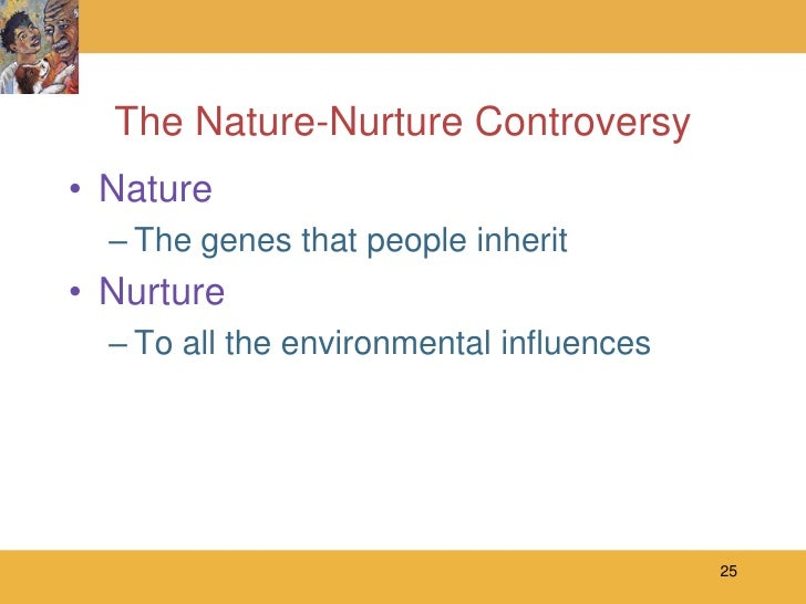 nature vs nurture understanding sources of In conclusion, it is evident that nature is responsible for producing healthy, well-developed babies it is also nurture that plays an important role in the early stages of human development research has concluded beyond doubt that early human development is quicker and more focused due to nurture as it builds up on the talents provided by.