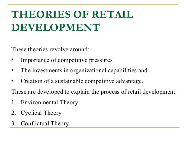 retail models and theories of retail development pdf