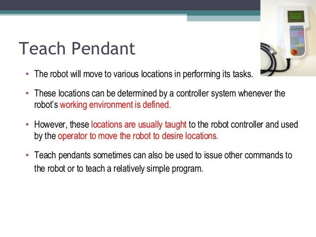 Robotic chapter 2 teach pendant aloadofball