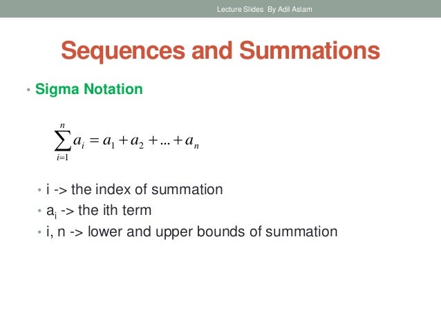 Sequences And Summations In Discrete Mathematics