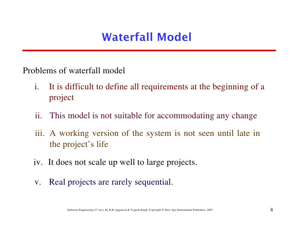 Chapter 2 software development life cycle models for Waterfall model is not suitable for