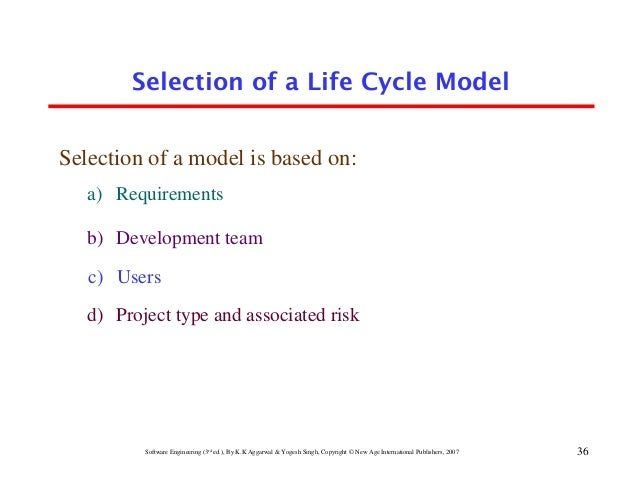 36 Selection Of A Life Cycle Model