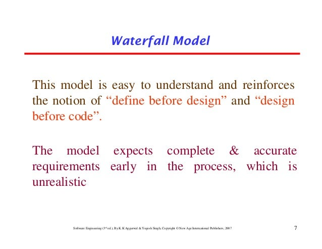 Chapter 2 software development life cycle models for Waterfall design definition