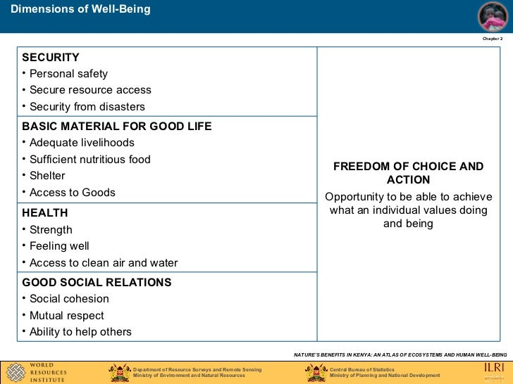 dimensions of well being Wellness means overall well-being it includes the emotional, environmental, financial, intellectual, occupational, physical, social, and spiritual aspects.