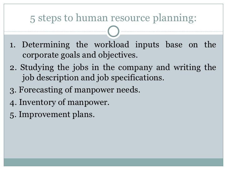 chapter strategic human resource planning 9 5 steps to human resource planning