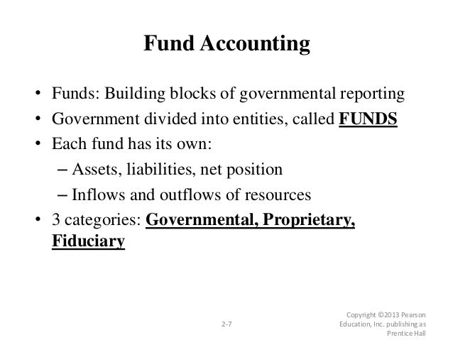 • Funds: Building blocks of governmental reporting • Government divided into entities, called FUNDS • Each fund has its ow...