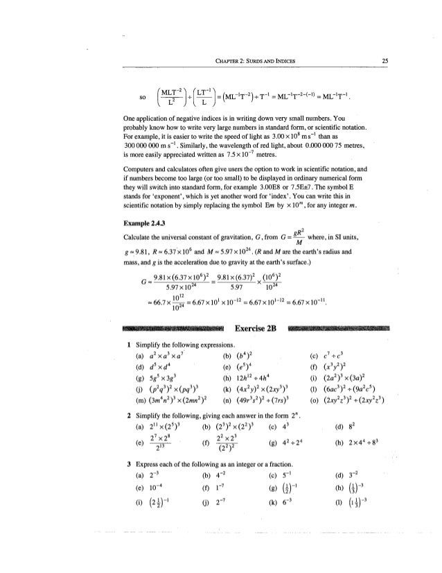 Chapter 2 Surds And Indicies