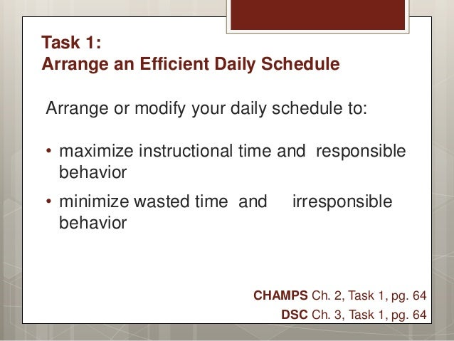 Chapter 2 Task 1 Arrange An Efficient Daily Schedule