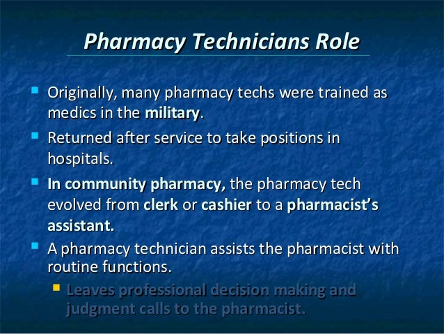 Chapter 2 the pharmacy technician