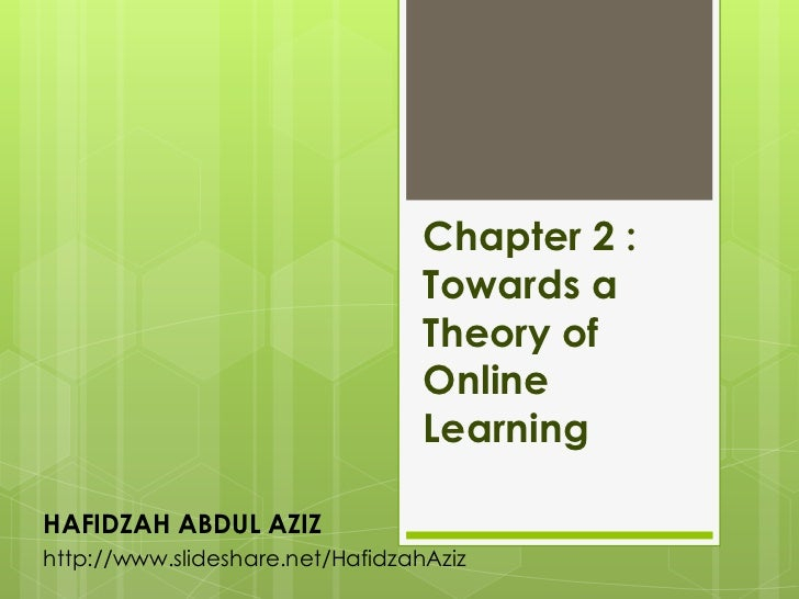 Chapter 2 :                                  Towards a                                  Theory of                         ...