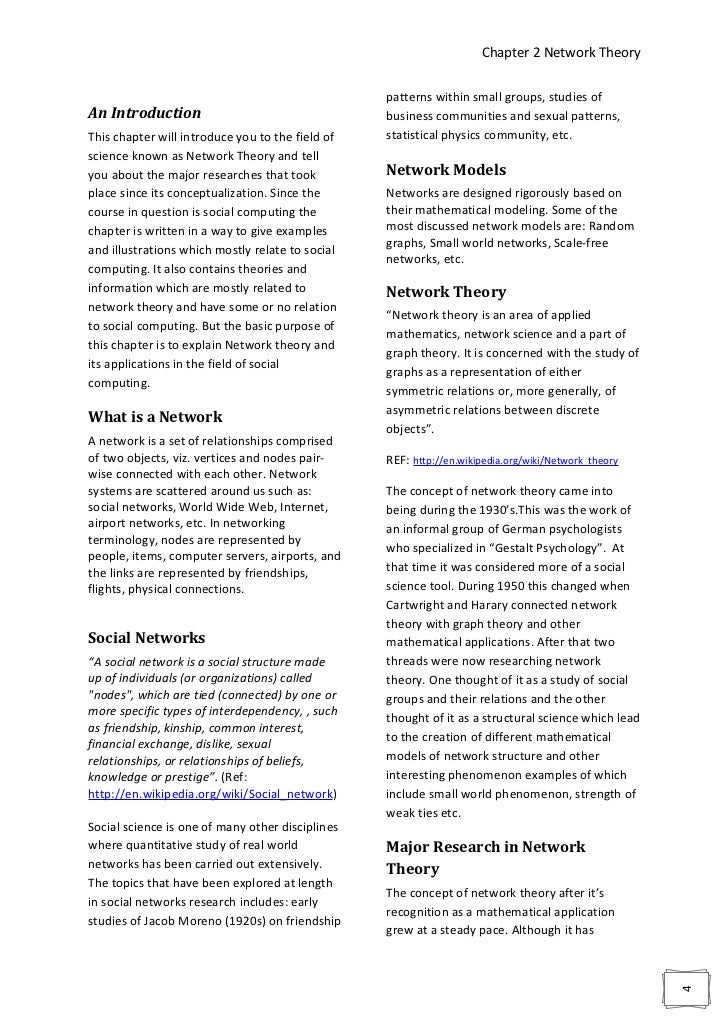 Chapter 2 Network Theory                                                  patterns within small groups, studies ofAn Intro...