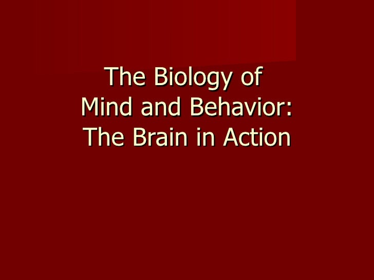 The Biology of  Mind and Behavior: The Brain in Action