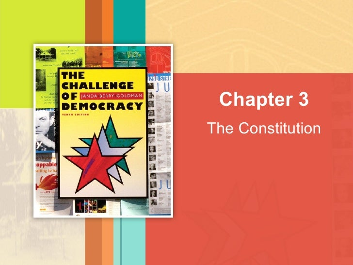The Constitution Chapter 3