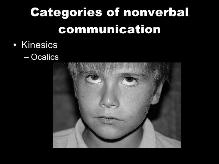 Categories of nonverbal communication <ul><li>Kinesics </li></ul><ul><ul><li>Ocalics </li></ul></ul>