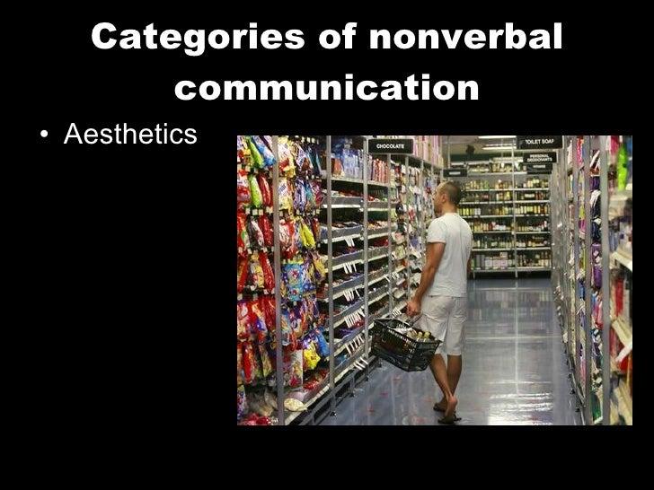 Categories of nonverbal communication <ul><li>Aesthetics </li></ul>