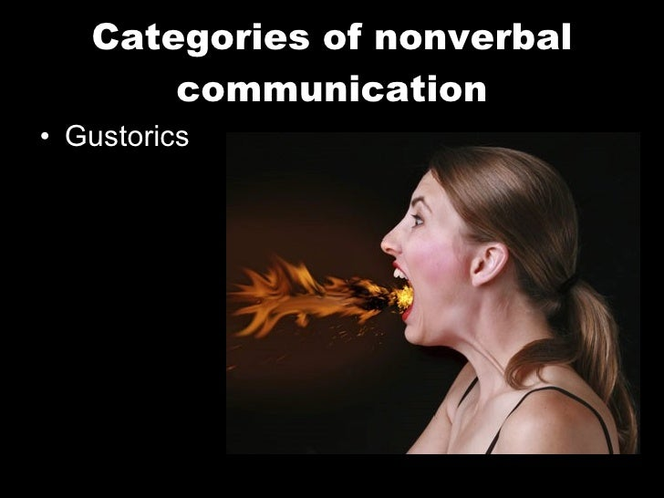 Categories of nonverbal communication <ul><li>Gustorics </li></ul>