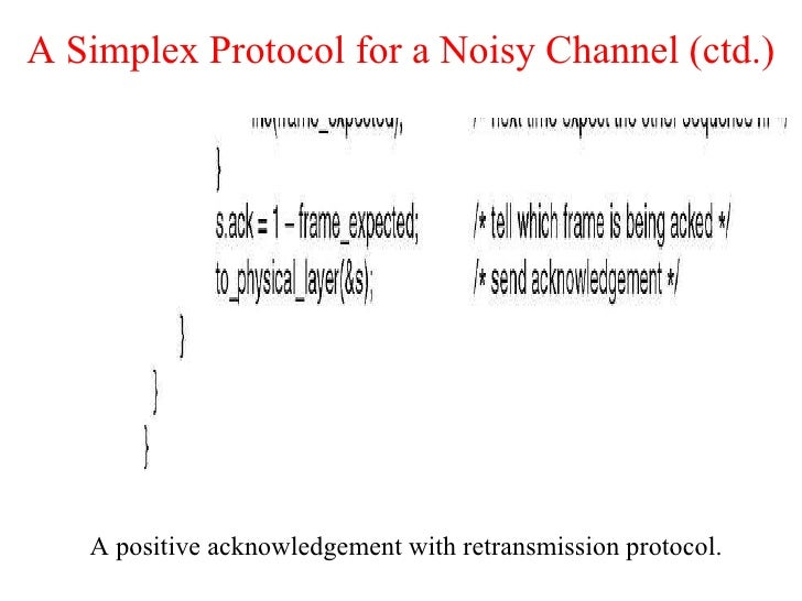 simplex stop and wait protocol for a noisy Stop and wait protocol - download as pdf file (pdf), text file (txt) or view presentation slides online  chen simplex stop and wait with arq • for noisy link .