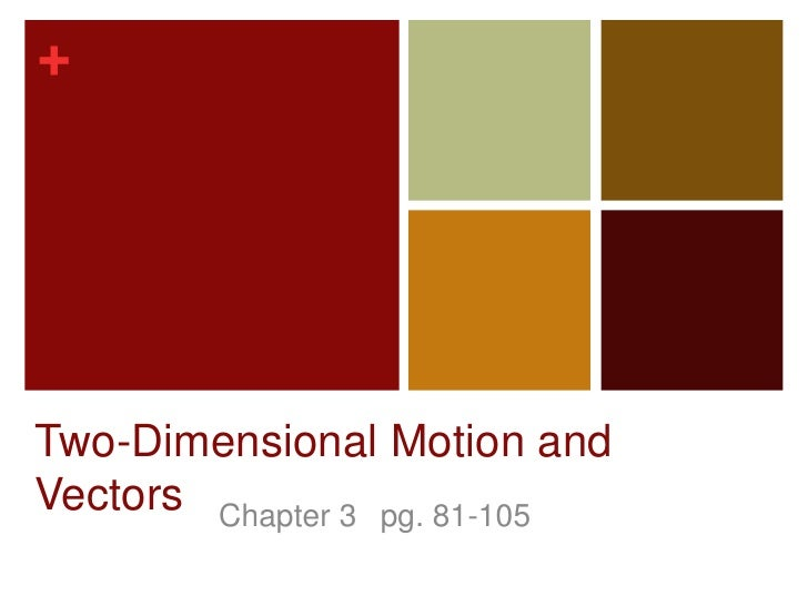Two-Dimensional Motion and Vectors<br />Chapter 3 pg. 81-105<br />