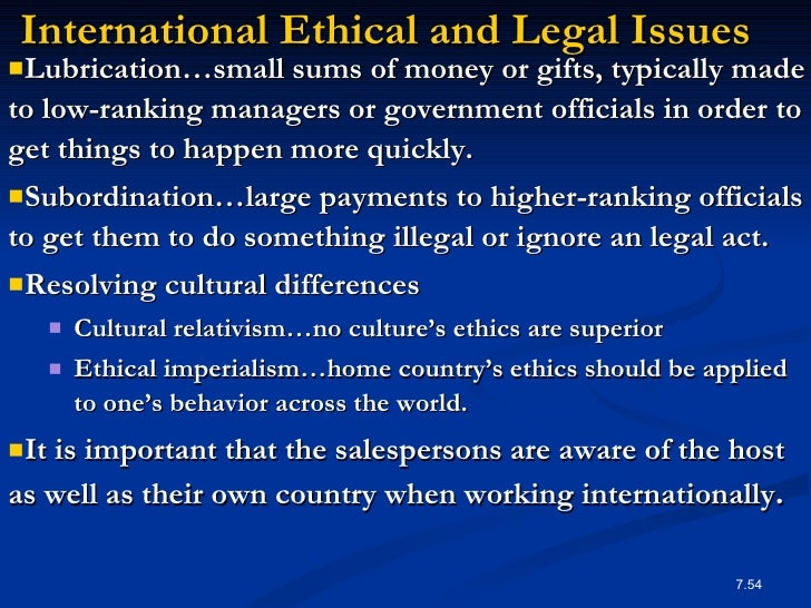 ethical issues in personal selling Chap 3 ethical & legal issues 1  ethics and personal selling ethics are the principle governing the behavior of an individual or a group these principles .